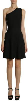 MICHAEL Michael Kors One Shoulder Dress With Pleated Skirt