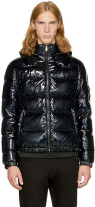 Versace Black Down Shiny Puff Jacket