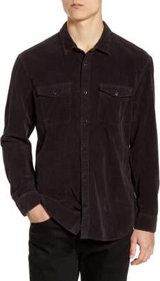 John Varvatos Dale Regular Fit Corduroy Western Button-Up Shirt