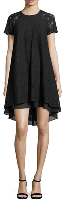 Cap Sleeve Lace High-Low Dress $129 thestylecure.com