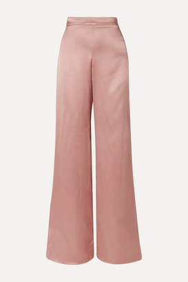 Cushnie Silk-satin Wide-leg Pants - Antique rose