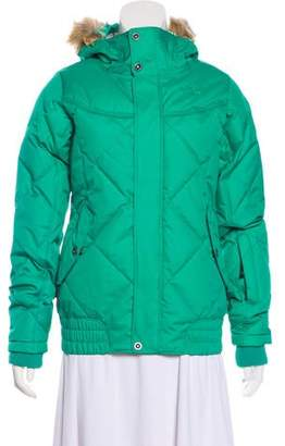 The North Face Quilted Hooded Down Jacket