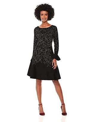 Taylor Dresses Women's Bell Sleeve A-line Sweater Dress