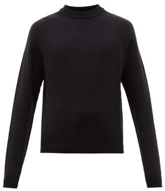 Lemaire Crew Neck Wool Sweater - Mens - Black