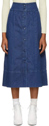 A.P.C. Indigo Knight Skirt