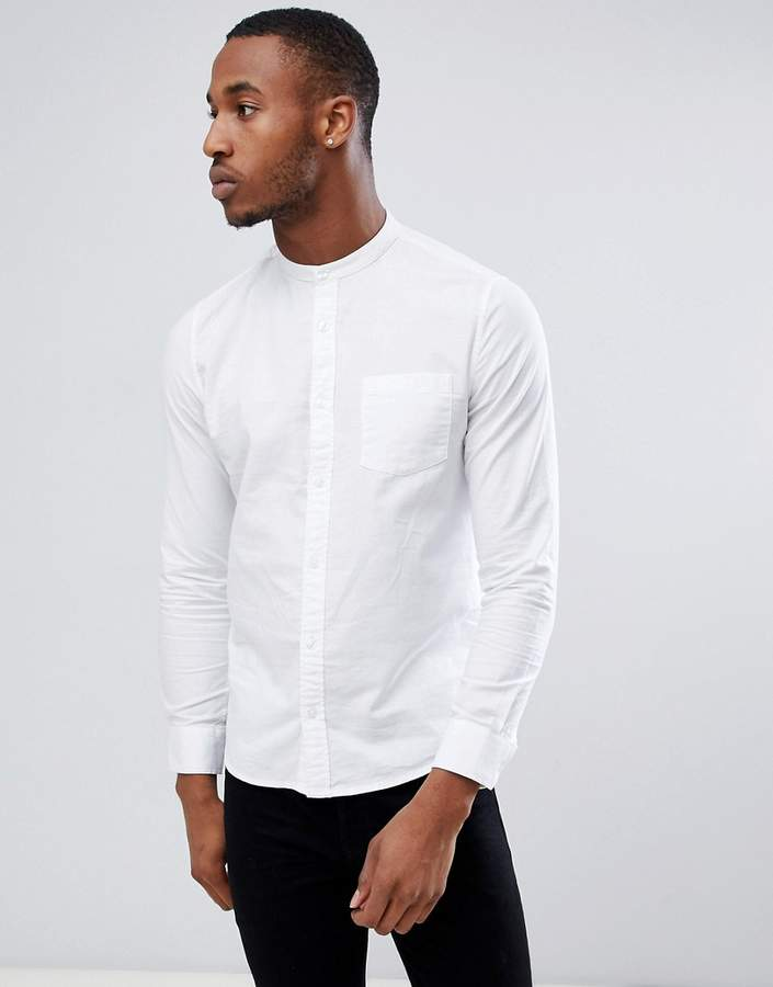 Burton Menswear – Oxford-Hemd in Weiß