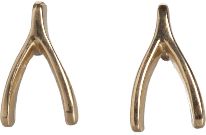 Jennifer Meyer Wishbone Earrings