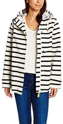 Tom Joule Women's V_coastprint Waterproof Jacket, White - Weiß (BLCKSTR), 8 (Manufacturer Size: X-Small)