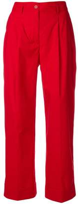 P.A.R.O.S.H. cropped straight leg trousers