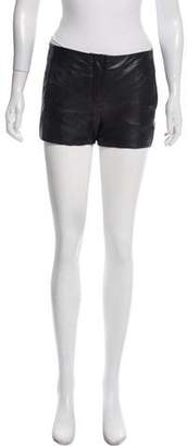 Alexander Wang Leather Mini Shorts