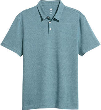 H&M Polo Shirt Slim fit - Turquoise