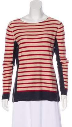 Tory Burch Striped Bateau Neck T-Shirt
