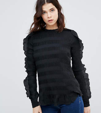 Y.A.S Tall Diana Ruffle Textured Blouse