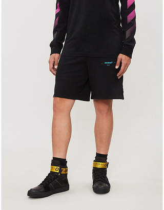 Off-White Logo-print relaxed-fit cotton-jersey shorts