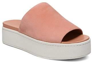 Vince Women's Walford Suede Platform Slide Sandals