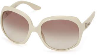 Christian Dior (クリスチャン ディオール) - Dior サイドロゴ バタフライ アイウエア フレーム:ホワイト レンズ:ライトブラウングラデーション 62