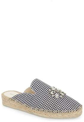 Patricia Green Gingham Glam Embellished Loafer Mule