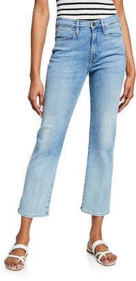 Frame Le High Straight Cropped Stretch Jeans