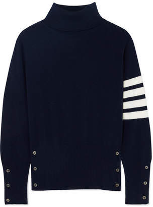 Thom Browne Striped Cashmere Turtleneck Sweater - Navy