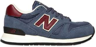 New Balance (ニュー バランス) - New Balance Mesh & Faux Suede Running Sneakers