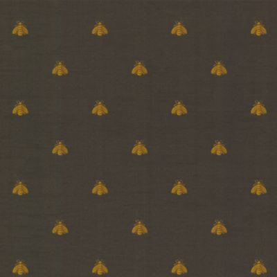 Bee Wallpaper -Charcoal Double Roll