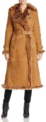 Burberry Tolladine Shearling Trench Coat
