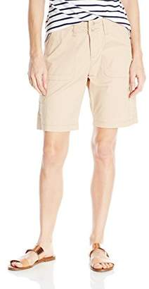Lee Women's Petite Relaxed-Fit Avey Knit Waist Cargo Bermuda Short