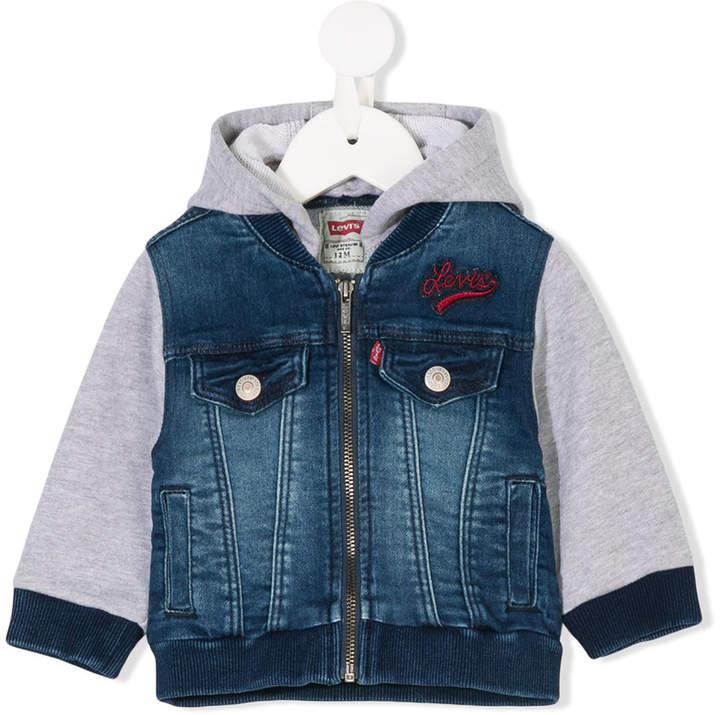 Kids layered-look denim jacket