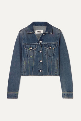 MM6 MAISON MARGIELA Cropped Denim Jacket - Mid denim