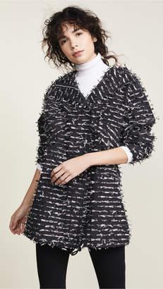 ANAÏS JOURDEN Silver Foil Confetti Parka Jacket