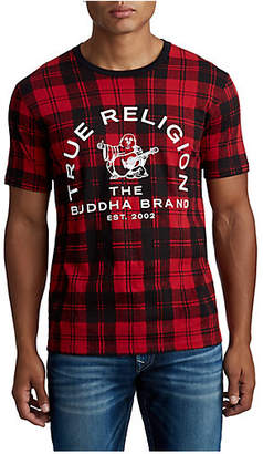True Religion MENS CLASSIC PLAID BUDDHA TEE