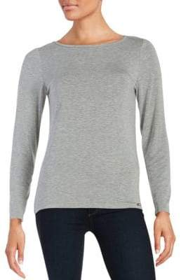 Calvin Klein Collection Liquid Jersey Long Sleeved Top