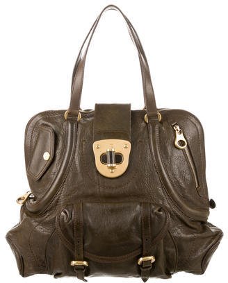 Alexander McQueen Alexander McQueen Large Leather Shoulder Bag