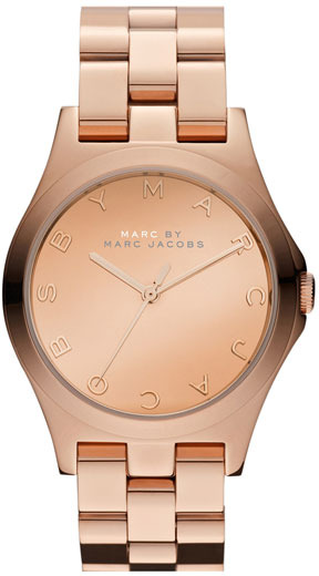 Marc by Marc Jacobs 'Henry Glossy' Bracelet Watch