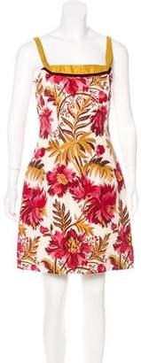 Peter Som Floral Print Mini Dress