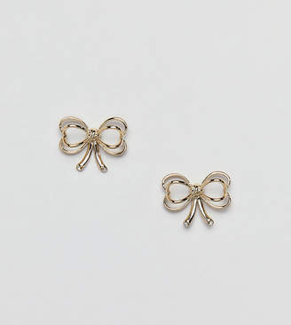 Ted Baker Gold Bow Stud Earrings