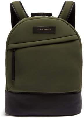 WANT Les Essentiels Kastrup Leather Trimmed Neoprene Backpack - Mens - Khaki