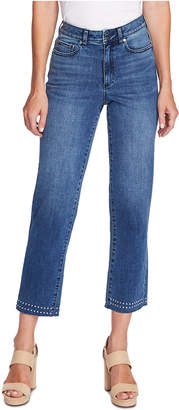 Vince Camuto Cropped Studded Jeans