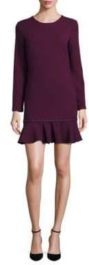 Shoshanna Ruffled Hem Long Sleeve Dress