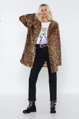 Nasty Gal Born to Be Wild Leopard Faux Fur Coat