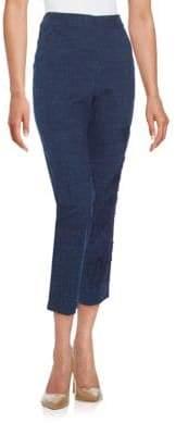 Natori Embroidered Chambray Pants