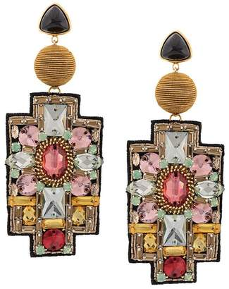 Lizzie Fortunato Madonna crystal earrings