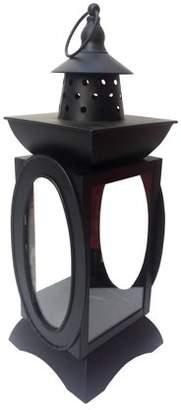 Darice Metal Lantern Candleholder: Black, 5.5 x 15.25 inches