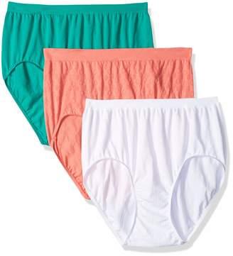 Bali Women's Comfort Revolution Seamless Hi-Cut Brief Panty