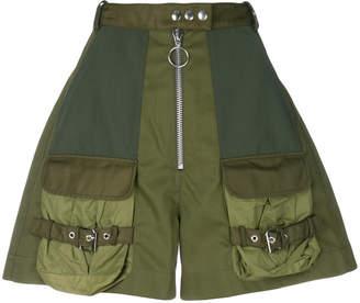 Marques Almeida Marques'almeida high-waist military shorts