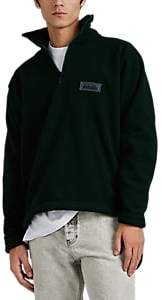 Martine Rose Napa by Men's Fleece Oversized Quarter-Zip Pullover - Dk. Green