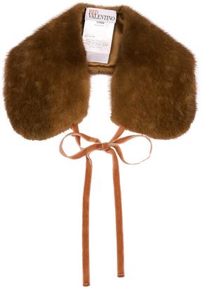 REDVALENTINO Fur collar $301 thestylecure.com