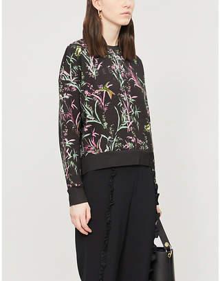 Ted Baker Vencia floral-print cotton-blend sweatshirt