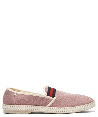 Rivieras College Canvas Loafers - Mens - Red Multi
