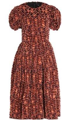 Dolce & Gabbana Flared Pleated Fil Coupé Dress